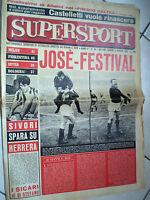 RIVISTA SUPERSPORT anno II n.28 del 5/3/1962 calcio MILAN 41 FIORENTINA 40 INTER