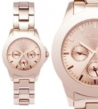 Damenuhr Armbanduhr Roségold Datum Edelstahlarmband GX08007673 von gooix