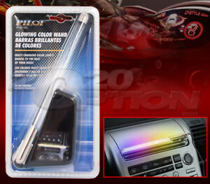 LED GLOWING COLOR WAND ROD FROSTED BUBBLE LIGHT TUBE FOR AUDI LAND ROVER