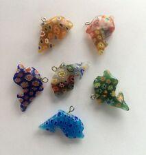 12pcs 28mm dolphin Millefiori glass Lampwork pendant supplies jewelry accessorie