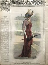 MODE PRATIQUE July 2,1910 + sewing pattern Evening dress and coat ...