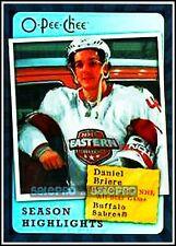 OPC O-PEE-CHEE 2007 DANIEL BRIERE NHL BUFFALO SABRES SEASON HIGHLIGHTS #SH6