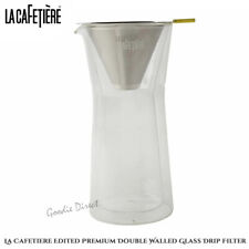 La Cafetiere Edited Premium Double Walled Glass Drip Filter 520ml Clear Glass