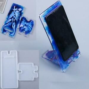 Silicone Mobile Phone Stand Holder Casting Mold Resin Epoxy Mould Craft DIY Tool