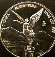 2004 Mo 1 oz Onza Mexico Libertad Gem UNC Ley .999 Plata 1-13-21 free shipping