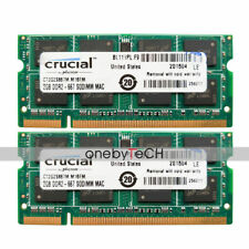 "4GB 2x2GB PC2-5300S DDR2 667 CL5 Memory Fr MacBook 13"" Late 2006 A1181 MA699LL/A"