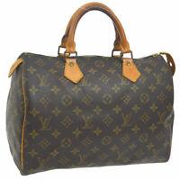 AUTHENTIC LOUIS VUITTON SPEEDY 30 HAND BAG MONOGRAM CANVAS M41526 A44331
