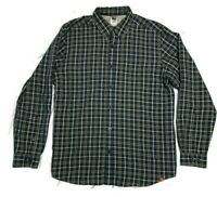 North Face Men's Long Sleeve Navy Blue Plaid Active Button Up Shirt Large Male