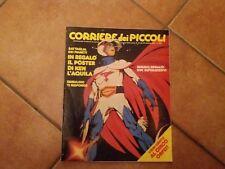 CORRIERE DEI PICCOLI 1981 N° 43 PUFFI + POSTER KEN AQUILA + ADESIVI UOMO RAGNO