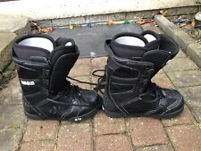 Prion Thirty Two 32 Black Snowboard Boots Size 9/42