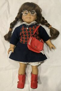 "Vintage Pleasant Company American Girl White Body Molly 18"" Doll w/ Accessories"