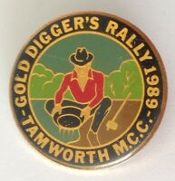 Tamworth Motorcycle Club MCC Gold Diggers Rally 1989 Badge Pin Authentic (F2)