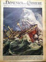 La Domenica del Corriere 15 Febbraio 1959 Titanic Hedtoft Cardinale Fumo Lewis
