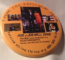 Thank You Obama Button by Huriyyah of Survive Strive Thrive, Inc