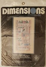 """Country Collection""cross stitch sampler kit by Dimensions-never opened-1986"