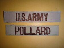 2 Désert Tan États-Unis Armée Correctifs : AMÉRICAIN Poche Bande + Têtard Nom