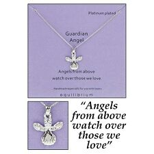 equilibrium platinum plated guardian angel necklace sentiment crystal gift