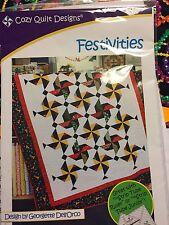 Festivities Quilt Kit 51 x 67 A Strip Club Pattern Mardi Gras Quilt