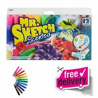 Mr. Sketch 12-Pack Scented Markers Chisel Tip Art Markers Assorted Colors