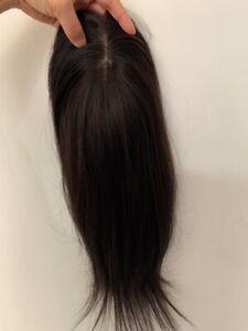 "New Sale! 4""x5""Silk top parting 100% VIRGIN human hair topper hairpiece 16"""