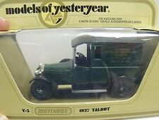 Matchbox,Models Of Yesteryear,Y-5,1927 Talbot Van,(?5.6?)Aim,Green,Excc ond,W/Box
