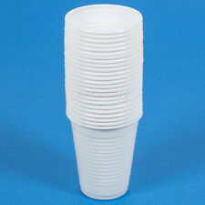 Set of 50 White Plastic Glasses Tumblers Wedding Party Cups BBQ Barbecue Drinks