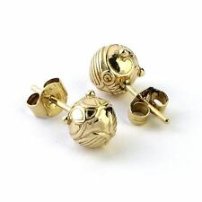 Harry Potter Sterling Silver Golden Snitch Stud Earrings with Gold Plating