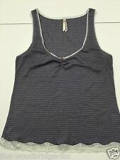 ACCESSORIZE SIZE 12 (EU 40) GREY SPARKLY LADIES SLEEVELESS TOP 6N