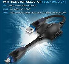 USA 3 IN 1 FLASH CABLE UNLOCK LG 56K 130K 910K RESISTOR P970 P990 P999 P796 L9