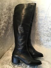 Vince Camuto Bendra Laced Over the Knee Boots Black Leather Size 7M NICE