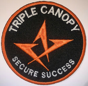 Triple Canopy Secure Success Security Mercenary Soldier Patch Hook&Sew New A628