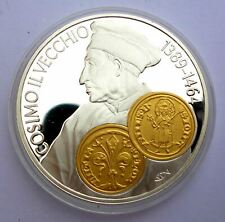 Netherlands Antilles 10 Gulden 2001 Silver Proof with Gold Trade coin Fiorino d'