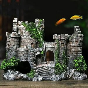 Resin Artificial Fish Tank Decorations Ancient Castle Landscaping For Aquarium