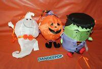 3 Piece Avon Nylon Hanging LED Lanterns Halloween Ghost Frankenstein Pumpkin