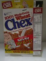 Vintage Ralston Wheat Chex 1991 Cereal Box Empty ~USED~ Charlie Brown/Peanuts