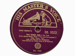 JACK HYLTON - Run, Rabbit, Run / The Girl Who Loves A Sailor 78 rpm disc (A+)