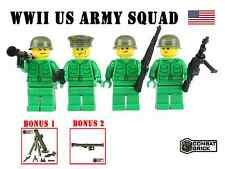 WW2 US Army Men Guns Pack Custom Soldiers Lot made with real LEGO Minifigure