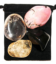 FINDING Your PATH Tumbled Crystal Healing Set = 4 Stones + Pouch + Card