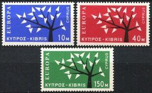 Cyprus #Mi215-Mi217 Mint CV€40.00 1953 Europa CEPT Tree [219-221]