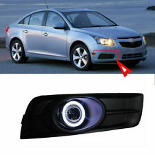 Fog Light Kit LED Bulbs COB Angel Ring Projector Lens Cover For Chevrolet Cruze