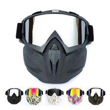 Military Army Tatical Full Face Mask Detachable Goggles Eyewear Helmet Sunglass