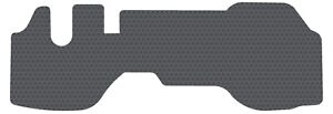 1 PC Gray Rubber Floor Mat Fits 2008 and Up Isuzu NPR - NPR-HD Gasoline Only