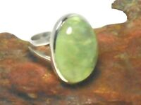 PREHNITE   Sterling  Silver   925  Gemstone  RING  -  Size 7  -  Gift  Boxed!