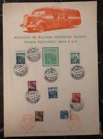 1940 Prague Bohemia Moravia Germany Souvenir Sheet Cover Mobile Post Office