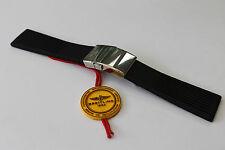 100% Original Breitling Negro Correa de implementación de Buzo Pro Acanalado Y Broche 24-20 mm