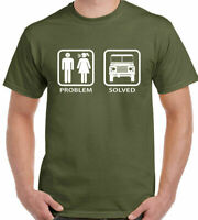 4x4 T-Shirt Problem Solved Mens Funny Off Roading 4x4 90 110 SVX