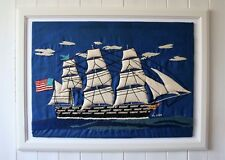 Beautiful Embroidered Old Sailing Ship