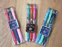 Vera Bradley ~ Click Pens ~ set of 3 ~ Black Ink ~ New Patterns ~ So Fun!