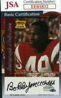 Bobby Mitchell 1999 Fleer Jsa Coa Hand Signed Authentic Autograph