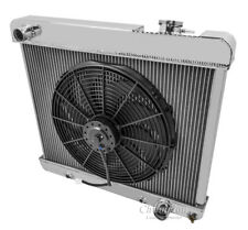 1970-85 Chevy C30-C60 C-Series All Alum 2 Row KR Champion Radiator Fan Combo